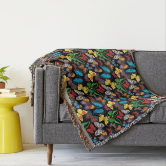Butterfly World Throw Blanket