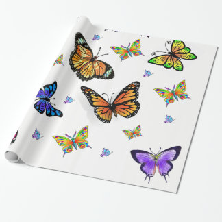 butterfly wrapping gift paper