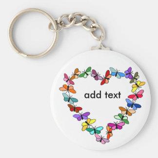 Butterfly wreath, add text key chain