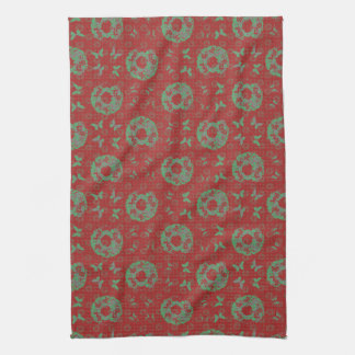 """Butterfly Wreath"" Holiday Kitchen Towel (PatRed)"