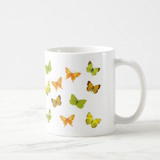 butterfly yellow fantasy classic white coffee mug