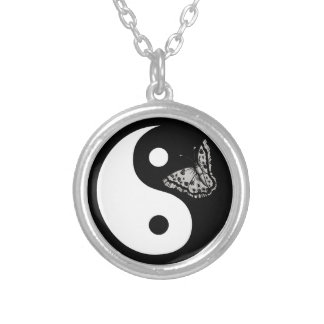 Butterfly Yin Yang Necklace