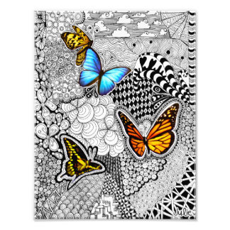 Butterfly Zentangle Photo Print