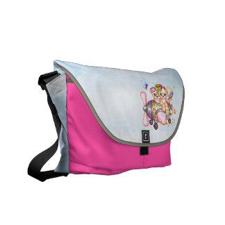 Butterflying Bears Pixel Art Courier Bag