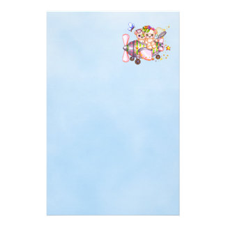 Butterflying Bears Pixel Art Stationery