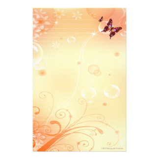 Butterflys and Bubbles Stationary Stationery