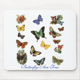Butterflys Are Free Mouse Pad