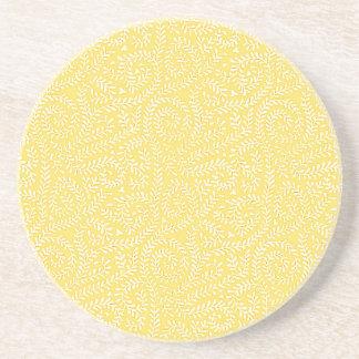 Butterleaf Yellow Pattern Coaster
