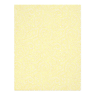 Butterleaf Yellow Pattern Letterhead Design