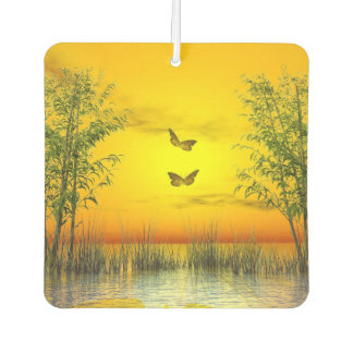 Butterlflies by sunset - 3D render Air Freshener