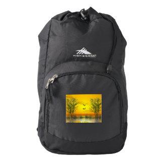 Butterlflies by sunset - 3D render Backpack