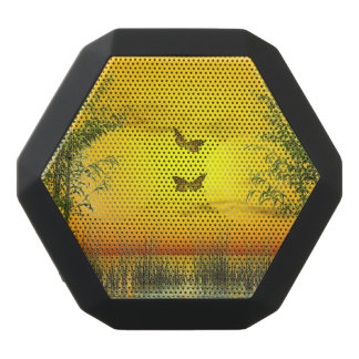 Butterlflies by sunset - 3D render Black Bluetooth Speaker