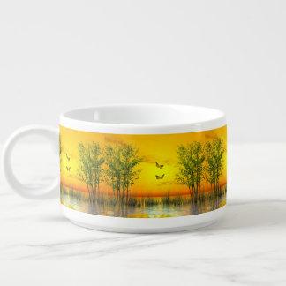 Butterlflies by sunset - 3D render Bowl