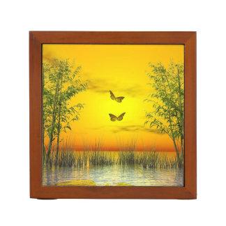 Butterlflies by sunset - 3D render Desk Organizer