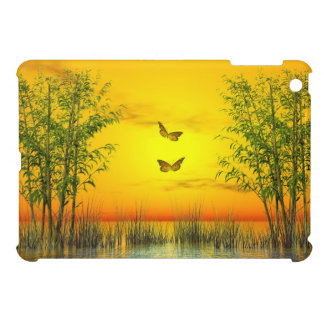 Butterlflies by sunset - 3D render iPad Mini Covers