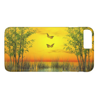 Butterlflies by sunset - 3D render iPhone 8 Plus/7 Plus Case