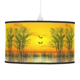 Butterlflies by sunset - 3D render Pendant Lamp