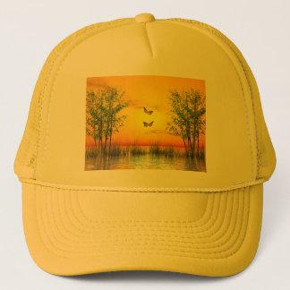 Butterlflies by sunset - 3D render Trucker Hat