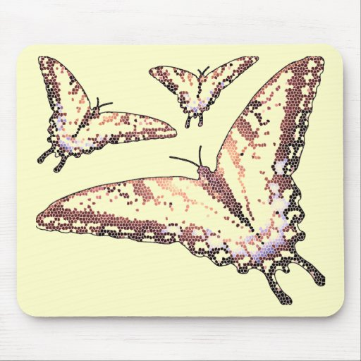 Butterlies Alla Artsy Mouse Pads