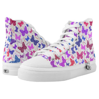 Butterlies And Branches Multi Colored High Tops