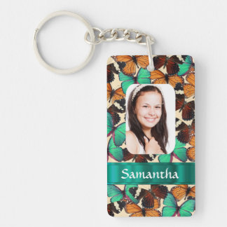 Butterly collage photo template keychain