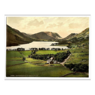 Buttermere and Crummock Water, Lake District, Engl Postcard