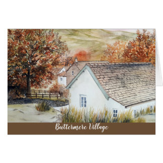 Buttermere Village, Lake District, England Card