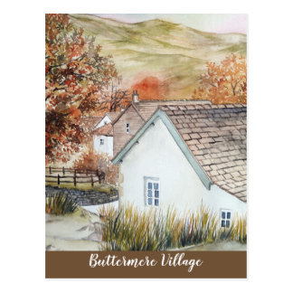 Buttermere Village, Lake District, England Postcard