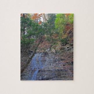 Buttermilk Falls Cuyahoga National Park Ohio Jigsaw Puzzle
