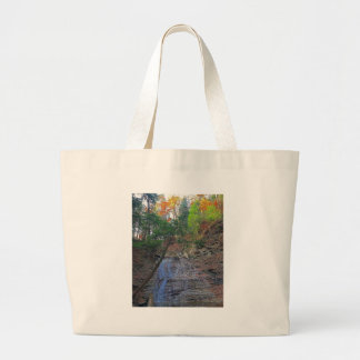 Buttermilk Falls Cuyahoga National Park Ohio Large Tote Bag