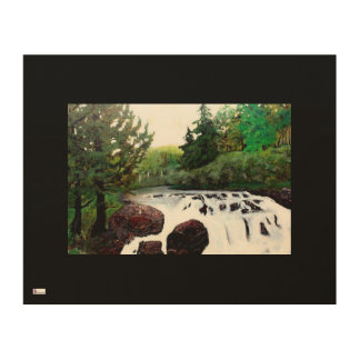 Buttermilk Falls On Wood With Black Wood Wall Decor