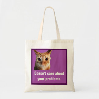 Butters Doesn't Care Funny Cat Budget Tote