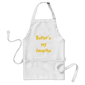 Butter's my favorite food group. adult apron