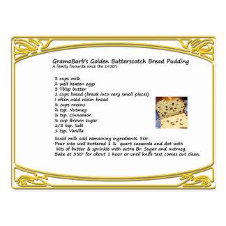 Butterscotch Bread Pudding Recipe Postcard