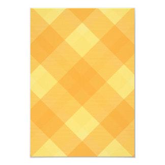 "Butterscotch Plaid Coordinating Wedding RSVP 3.5"" X 5"" Invitation Card"