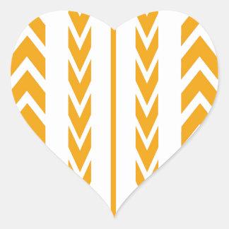 Butterscotch Tire Tread Heart Sticker