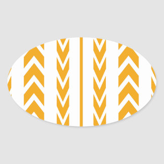 Butterscotch Tire Tread Oval Sticker