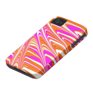 ButterSplotch - Orange & Pink Stripes iPhone 4 Case-Mate Case