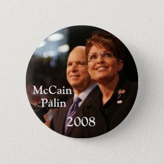 button6, McCain, Palin, 2008 - Customized 2 Inch Round Button