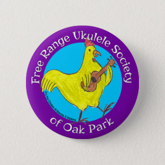 """Button 2.5"""" Free Range Ukulele Society of Oak Park"""