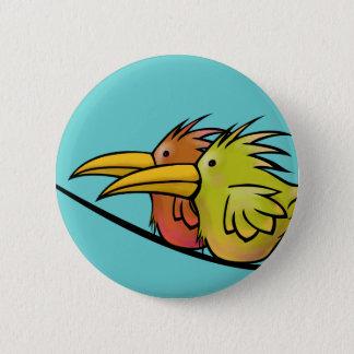 Button, 2 Birds on a Wire 2 Inch Round Button