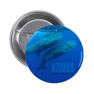 """Button 5,7 cm """"Azores Love Nature """""""