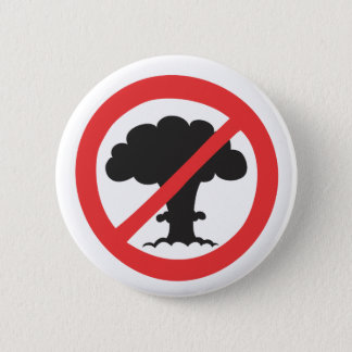 Button: anti nuclear weapons symbol 2 inch round button