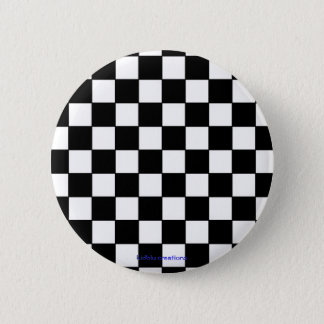 button - black & white checkers
