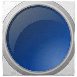 button blue circle design napkin