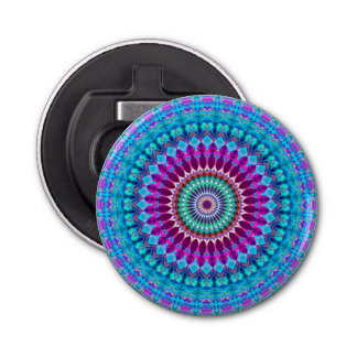 Button Bottle Opener Geometric Mandala G382
