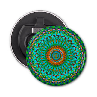 Button Bottle Opener Geometric Mandala G388