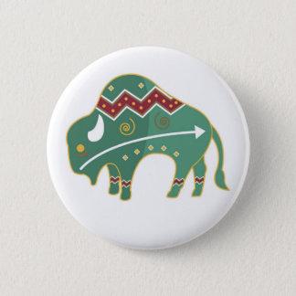 Button Buffalo Design Native American