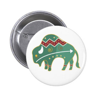 Button Buffalo Design Native American