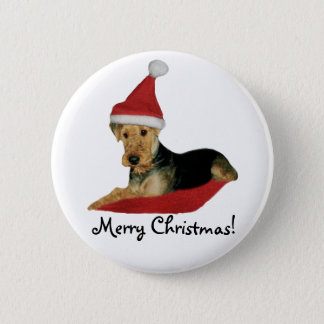"""Button Christmas """"Airedale Terrier """""""